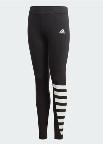 adidas Girls Black White ID Tights ages 4-5-6-7-8-9-10-11-12-13-14-15 Years